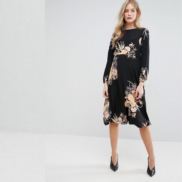 dc7c90b61f47b ASOS Maternity Dresses & Skirts - New Look Maternity Floral Print Midi Dress